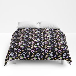 Star vs the Forces of Evil Pattern ( black ) Comforters