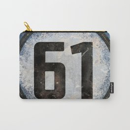 Vintage Auto Racing Number 61 Carry-All Pouch