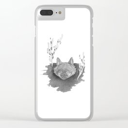 Wolf Baptism Clear iPhone Case