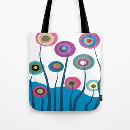 Artsy and Funky Floral Art Tote Bag