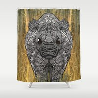 ornate Shower Curtains featuring Ornate Rino by ArtLovePassion