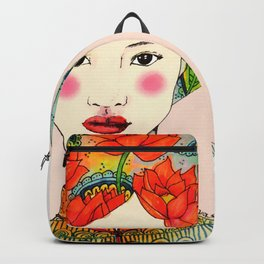 lotus girl Backpack