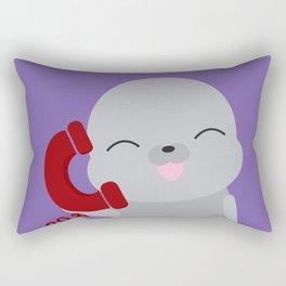 Seal on the Phone Rectangular Pillow