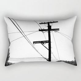 Power Lines at the bluff Rectangular Pillow