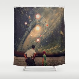 Light Explosions In Our Sky Shower Curtain