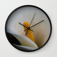 lily Wall Clocks featuring Lily by Michelle McConnell