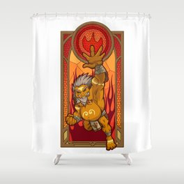 Sage of Fire Shower Curtain