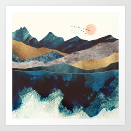Blue Mountain Reflection Art Print