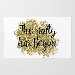 The party has begun - golden jazz Rug