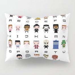 Doctor Who Alphabet Pillow Sham