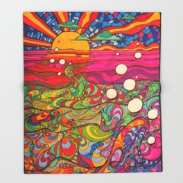 Psychedelic Art Throw Blanket