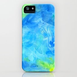 Ocean Breeze Watercolor Texture iPhone Case