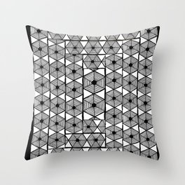 Hex spiral Throw Pillow