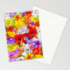 Exotic Flowers Colorful Explosion Stationery Cards