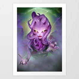 Sinister Creature Con Creature Girl Art Print