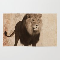 decal Area & Throw Rugs featuring Lion by haroulita