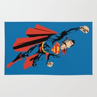 superman Area & Throw Rugs featuring DC - Superman by TracingHorses