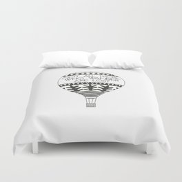 """Not all those who wander are lost"" Duvet Cover"