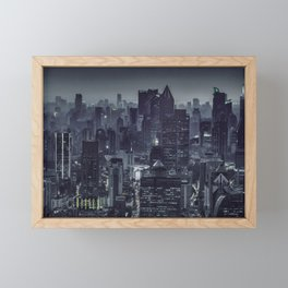 Aerial View Night Scene Shanghai, China Framed Mini Art Print