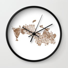 Aspen Colorado watercolormap Wall Clock