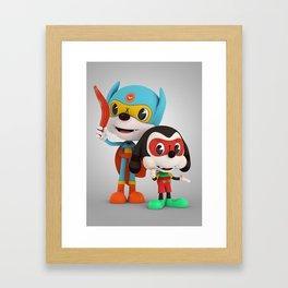 Bat Rat and Side Kick Framed Art Print