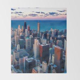 City Skyline Throw Blanket