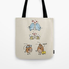 Educated fleas:) (Let's Fall In Love) Tote Bag