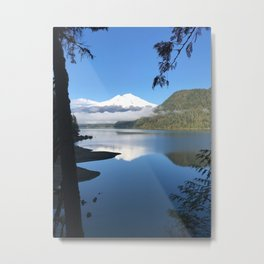 Mt. Baker over Baker Lake Metal Print