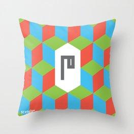 "Monogram Arabic Letter ""M"" Throw Pillow"