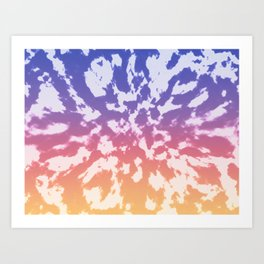 Sunset Tie-Dye Art Print