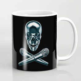 Pirate tunes / 3D render of skull and cross bones with microphones Coffee Mug