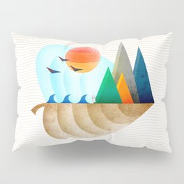 074 - Autumn leaf minimal landscape II Pillow Sham