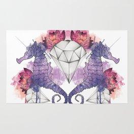 Seahorse Meltdown - Purple/Pink Rug