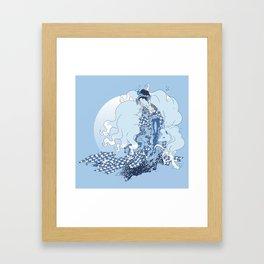 Alolan Ninetales Daji Framed Art Print