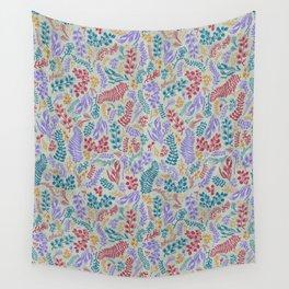 Cut Flowers Pattern Light Green Wall Tapestry