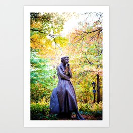 Eleanor Roosevelt Statue in Riverside Park Art Print