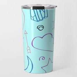 Sketch Doodles Pattern Travel Mug
