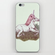 The Resting Unicorn iPhone & iPod Skin