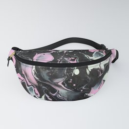 Fluid Acrylic (Black, white and pink) Fanny Pack
