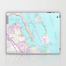 Vintage Map of Port St Lucie Inlet (1948) Laptop & iPad Skin