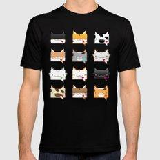 Convo Cats! Mens Fitted Tee Black MEDIUM