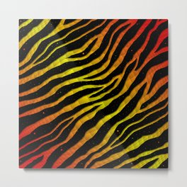 Ripped SpaceTime Stripes - Red/Yellow Metal Print