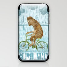 Dirty Wet Bigfoot Hipster iPhone & iPod Skin