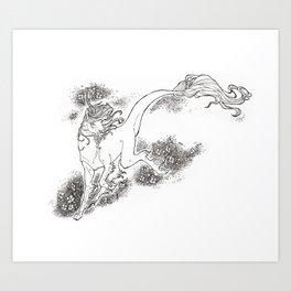 Sakura Kirin Art Print
