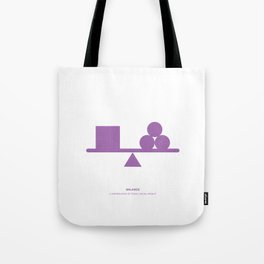 Design Principle ONE - Balance Tote Bag