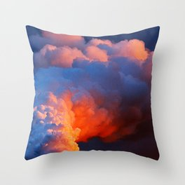 Contrasting Clouds Throw Pillow