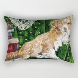 Sir Beckett, Dog With An Education Rectangular Pillow