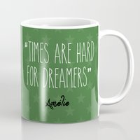 amelie Mugs featuring Amelie by Pendientera