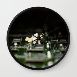 Green Moon Wall Clock