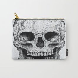Traditional Anatomical Skull Design Carry-All Pouch